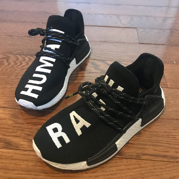 Pharrell x Adidas NMD Human Race Black Sneakers